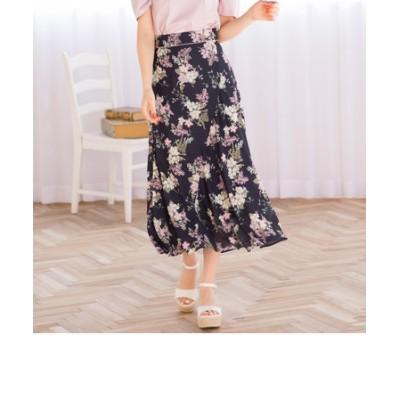花柄パイピングスカート