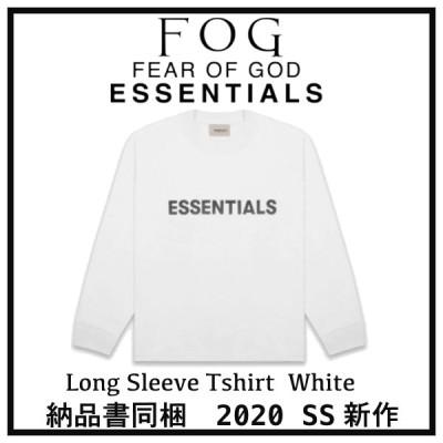 2020 FOG FEAR OF GOD ESSENTIALS フォグ フィアオブゴッド エッセンシャル フロントロゴ ロングTシャツ ホワイト 選べるサイズ 新品未使用 最新 人気 稀少
