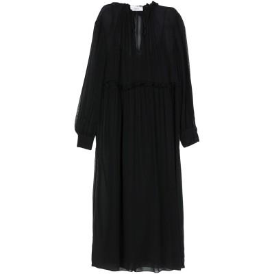 ジャッカ JUCCA ロングワンピース&ドレス ブラック 40 100% レーヨン ロングワンピース&ドレス