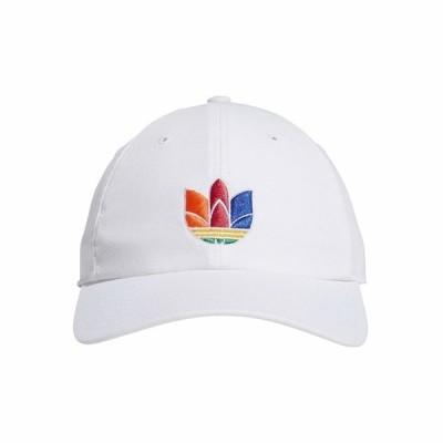 アディダスオリジナルス 帽子 アクセサリー メンズ Originals 3-D Trefoil Strapback White