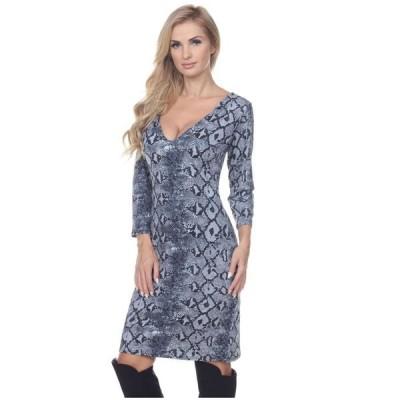 ホワイトマーク レディース ワンピース トップス Women's Vivian Snake Print Dress