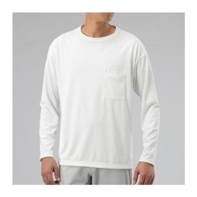 ミズノ ヘビーオンスクイックドライ長袖Tシャツ[ユニセックス] 01&nbspスノーホワイト(b2ma000101)