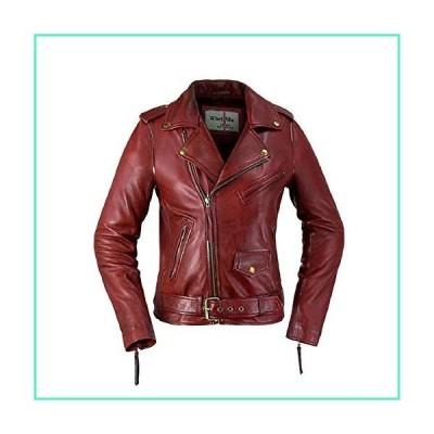 Whet Blu Rockstar Biker Leather Jacket - Oxblood-L並行輸入品