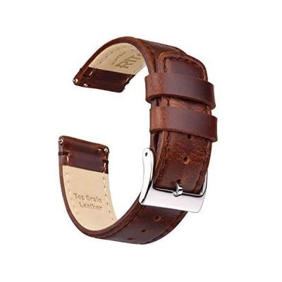 海外取寄品--Ritche 22mm Leather Watch Band Quick Release Watch Bands for Men Wom