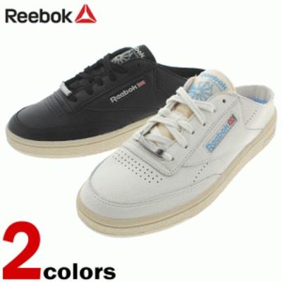 リーボック Reebok サンダル クラブシー 85 ミュール CLUB C 85 MULE チョーク/ペーパーホワイト(CN3278) ブラック/ペーパーホワイト(CN3