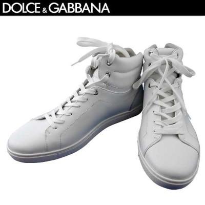 【送料無料】 ドルチェ&ガッバーナ(DOLCE&GABBANA) メンズ レザー ハイカット スニーカー 靴 CS1402 A3444 80001 BIANCO  71S