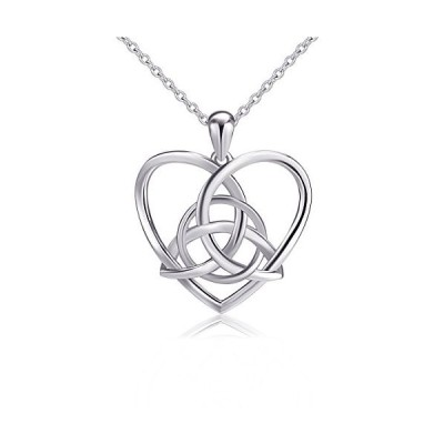 925 Sterling Silver Good Luck Irish Celtic Knot Triangle Vintage Love