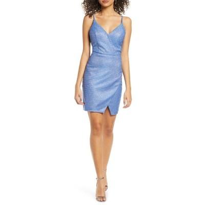 セクインハーツ ワンピース トップス レディース Glitter V-Neck Sheath Dress Cobalt