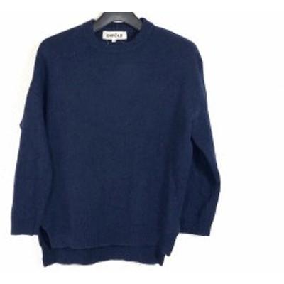 エンフォルド ENFOLD 長袖セーター サイズ38 M レディース - ダークネイビー【中古】20200508