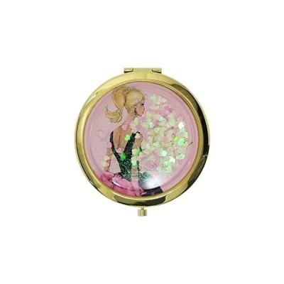 バービー[手鏡]コンパクトミラー/ハート&ラメPK Barbie SHO-BI おしゃれ キャラクター グッズ(キャラクター グッズ)