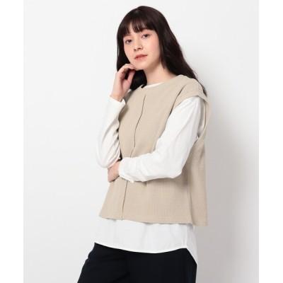 THE SHOP TK / リブベスト×TシャツSET WOMEN トップス > ベスト