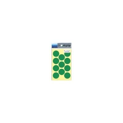 A-one エーワン カラーラベル 緑 丸型 30mmφ 14シート 品番 07233