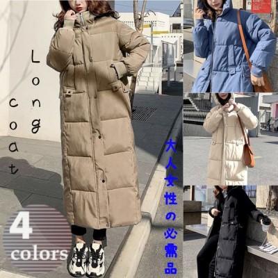 casual アウター ダウンコート ロング レディース 20代 30代 40代 黒 韓国