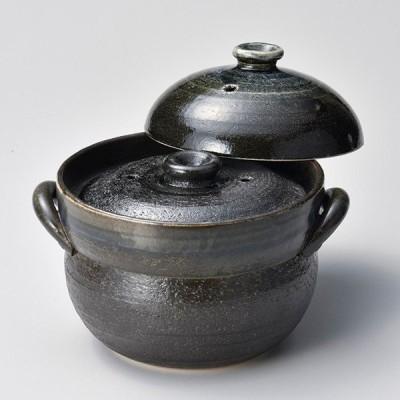 和食器 ス403-097 るり釉ご飯鍋4合炊(中蓋付)