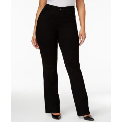 スタイルアンドコー デニムパンツ ボトムス レディース Plus & Petite Plus Size Tummy-Control Bootcut Jeans Noir