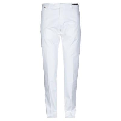 PT Torino パンツ ホワイト 54 コットン 83% / 麻 14% / ポリウレタン 3% パンツ