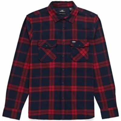 オニール ONeill メンズ シャツ ネルシャツ トップス check flannel shirt Red Aop