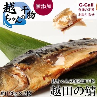 越田商店 越ちゃんの無添加干物 鯖の文化干し 約120g 2枚 干物 魚 こだわり 絶品 テレビで紹介 人気商品 産地直送 お取り寄せ ギフト 贈答 簡単調理