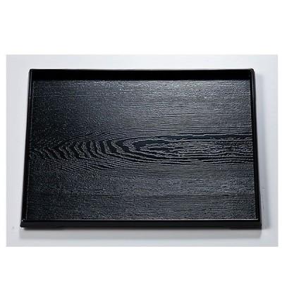 / 越前漆器 尺2 ダイヤ木目盆 黒 /和食器