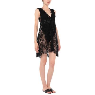 ERMANNO SCERVINO BEACHWEAR ビーチドレス ブラック 38 コットン 80% / ポリエステル 20% ビーチドレス