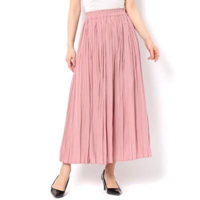 【テチチ/Te chichi】 サテンプリーツロングスカート