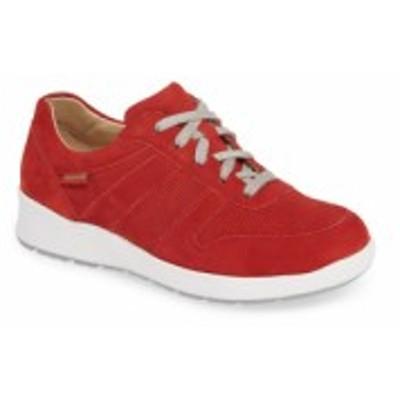 メフィスト MEPHISTO レディース スニーカー シューズ・靴 Rebecca Perforated Sneaker Scarlet Nubuck