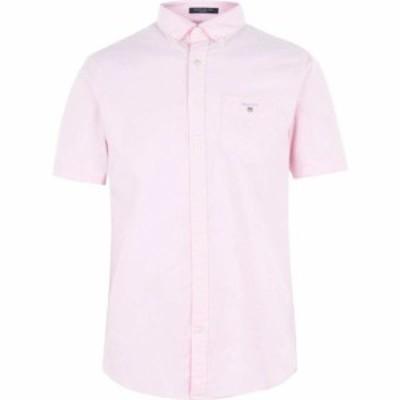 ガント Gant メンズ 半袖シャツ トップス Short Sleeve Oxford Shirt Pink