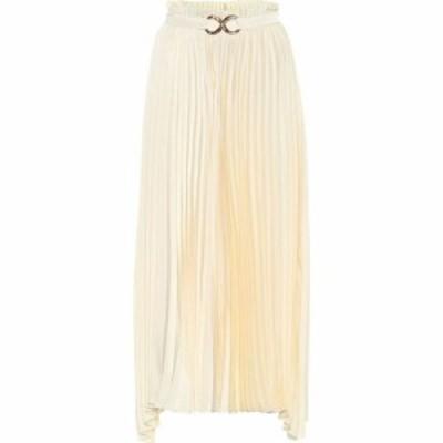 レジーナ ピヨ Rejina Pyo レディース ひざ丈スカート スカート Asymmetric pleated midi skirt Ivory