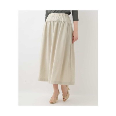 GIANNI LO GIUDICE / 切り替えギャザーデザインミモレ丈スカート