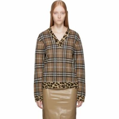 バーバリー Burberry レディース ニット・セーター Vネック トップス beige ohau v-neck sweater