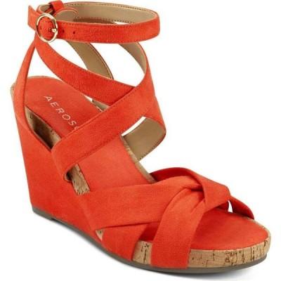 エアロソールズ Aerosoles レディース シューズ・靴 ウェッジソール Phoenix Strappy Wedge Orange Fabric