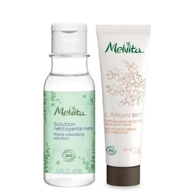 数量限定 Melvita(メルヴィータ) グリーンハンドジェル & ハンドクリームセット