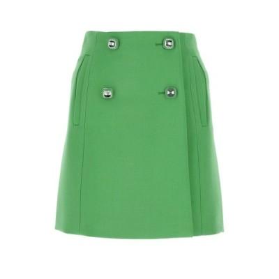 プラダ レディース スカート ボトムス Prada Buttoned Mini Skirt -