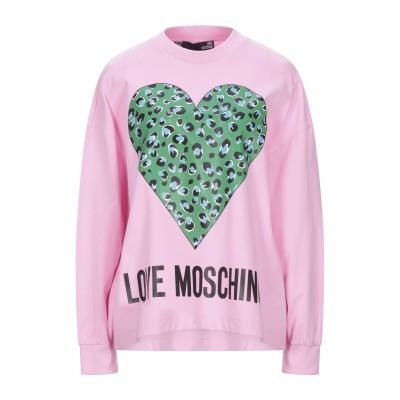 ラブ モスキーノ LOVE MOSCHINO スウェットシャツ ピンク 38 コットン 100% スウェットシャツ