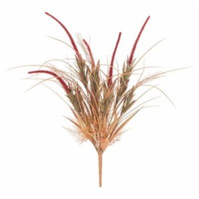 【人工観葉植物】オータムグラスブッシュ バーガンディー 65cm 【観葉植物 造花 フェイクグリーン 光触媒 CT触媒 インテリア】[G-L]
