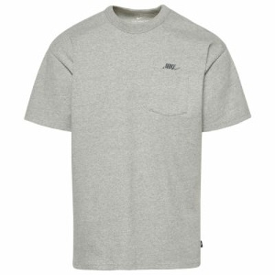 ナイキ Nike メンズ Tシャツ ポケット トップス Premium Essentials Pocket T-Shirt Dark Grey Heather/White