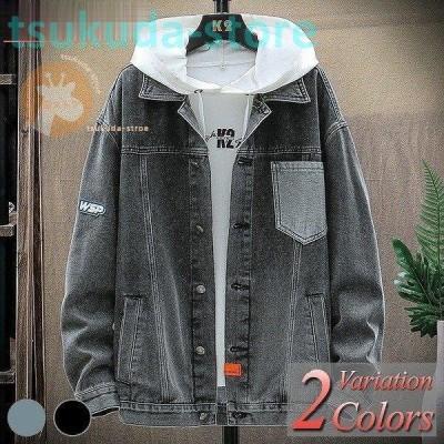 デニムジャケット メンズ Gジャン ジャンパー ブルゾン デニム ジャケット 大きいサイズ ヴィンテージ ダメージ アメカジ オールシーズン ジップアップ おしゃれ