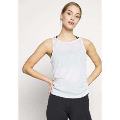 ナイキ レディース カットソー トップス YOGA RUCHE TANK - Sports shirt - summit white summit white
