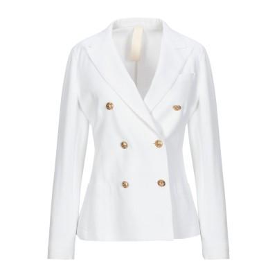 イレブンティ ELEVENTY テーラードジャケット ホワイト 42 コットン 74% / ナイロン 21% / ポリウレタン 5% テーラードジャ