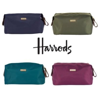 送料無料/HARRODS ハロッズ 正規品,本革タグ,ポーチ コスメ,化粧ポーチ,Iris Cosmetic Bag