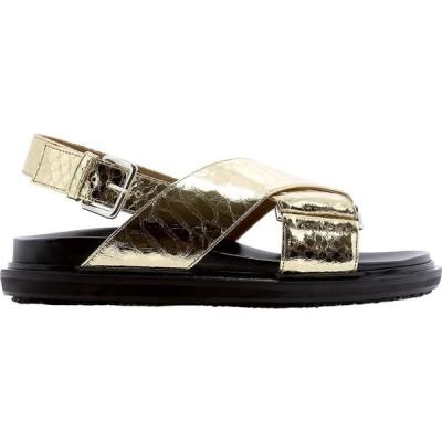 """マルニ Marni レディース サンダル・ミュール シューズ・靴 """"Fussbett"""" Sandals Gold"""