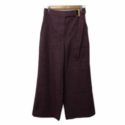 【中古】ロートレアモン LAUTREAMONT パンツ ワイド ロング 無地 1 紫 パープル レディース