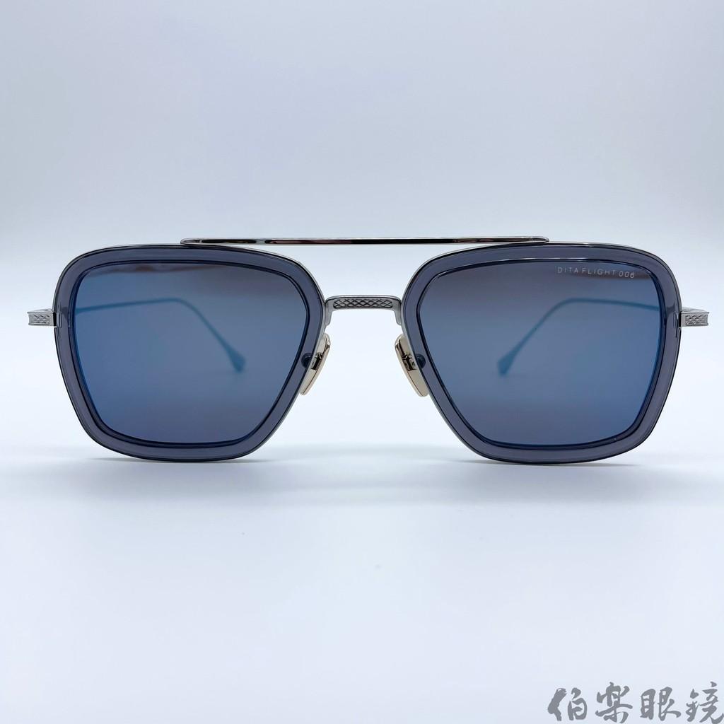 DITA-FLIGHT-006A 藍水銀/銀 伯樂眼鏡
