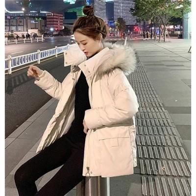 中綿ジャケット レディース 冬服 フード付き ショートコート ゆったり 暖かい ダウンコート 大きいポケット 厚手