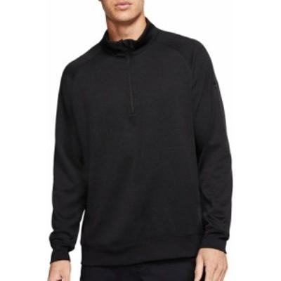 ナイキ メンズ Nike Men's Dri-FIT Player ? Zip Golf Pullover Tシャツ 長袖 ロンT BLACK