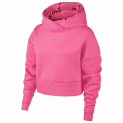 ナイキ レディース パーカー Nike Pro Fleece Hoodie フーディー Digital Pink/Metallic Silver