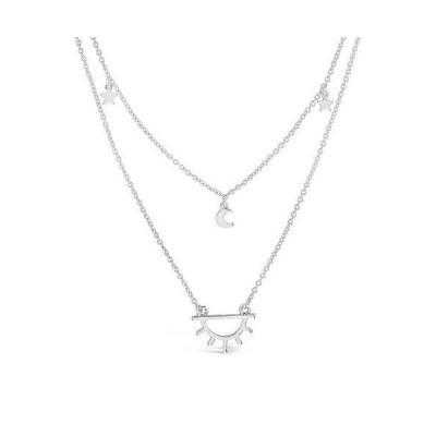 レディース アクセサリー  Sterling Forever Moon Star & Sun Necklace