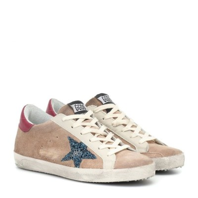 ゴールデン グース Golden Goose レディース スニーカー シューズ・靴 superstar suede sneakers Desert Suede-Blue Glitter Star