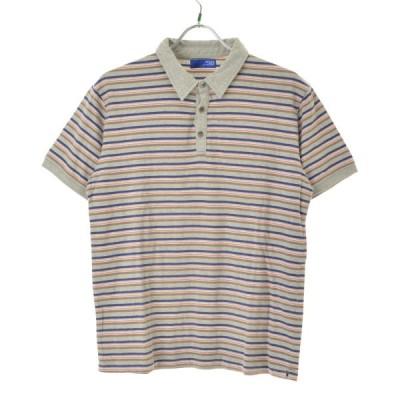 BEAMS / ビームス ボーダー柄 半袖ポロシャツ