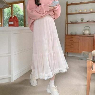 cherryville レディース スカート Romantic Shalace Long Skirt